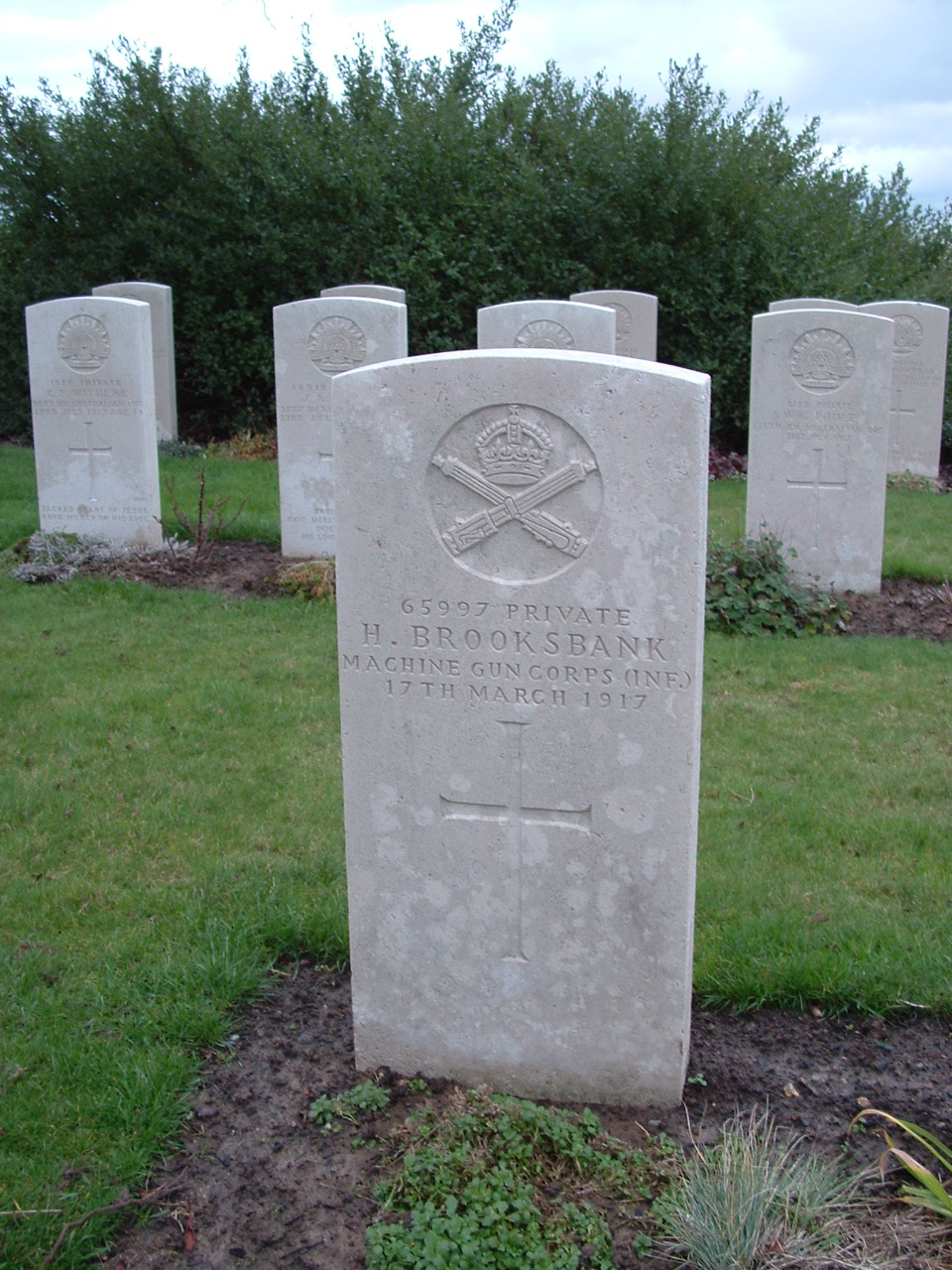 CWGC H.Brooksbank headstone